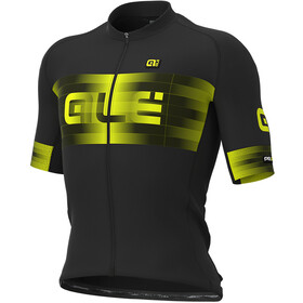 Alé Cycling Graphics PRR Scalata Maillot Manches courtes Homme, black/fluo yellow